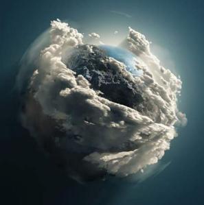 Terre dans son berceau de nuage -Namaste - du télescope Hubble